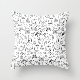 Just things, just ink Throw Pillow