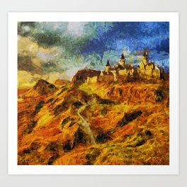 The castle of Vicent in the mountains Art Print