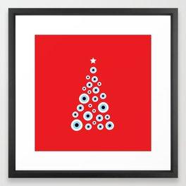 Evil Eye Christmas tree Framed Art Print