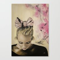 charmaine olivia Canvas Prints featuring Olivia by Claire Lee Art