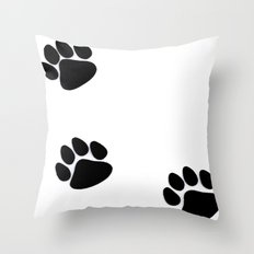 Pawprints Throw Pillow