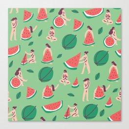 The Watermelon Girls Canvas Print