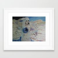 artrave Framed Art Prints featuring artRAVE ANGEL by Simone Sprangers