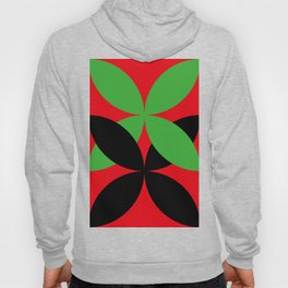 Two four-leaf clovers hugging in a beautiful deep red space. How lucky! Hoody