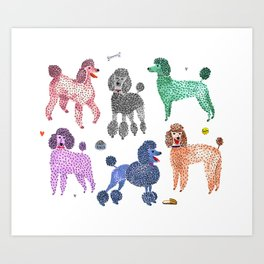 Poodles by Veronique de Jong Art Print