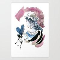 Beautiful Woman / Ugly Witch  Art Print