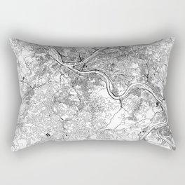 Pittsburgh White Map Rectangular Pillow