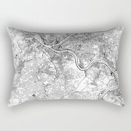 Pittsburgh White Map Rectangular Pillow