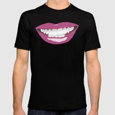 La Bouche Black Mens Fitted Tee MEDIUM