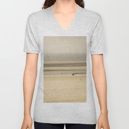 Beach of Le Touquet Paris-plage Unisex V-Neck