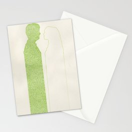 PEA GREEN LOVERS  Stationery Cards