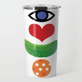 Eye Love Pickleball Rebus #1 Travel Mug