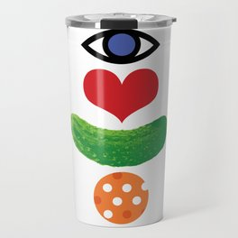 Eye Love Pickleball Rebus #1 Travel Mug