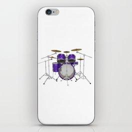 Purple Drum Kit iPhone Skin