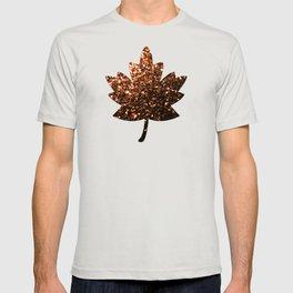 Beautiful Bronze Orange Brown glitters sparkles T-shirt