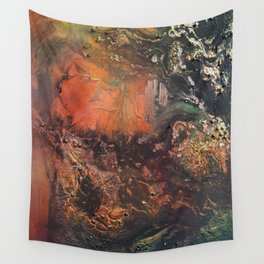 Nebula // abstract texture painting Wall Tapestry