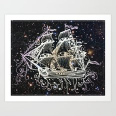 The Great Sky Ship II Art Print