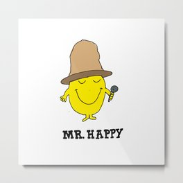 Mr. Happy Metal Print