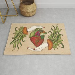 Eating is caring Rug