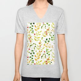 Branches and Leaves 2 Unisex V-Neck