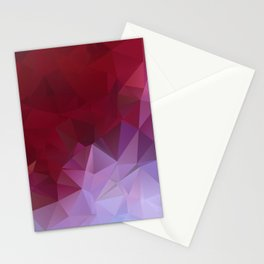 POPPY RED AND LILAC LOWPOLY Stationery Cards