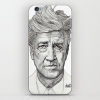 lynch iPhone & iPod Skins featuring David Lynch by Paul Nelson-Esch Art