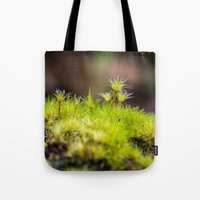 moss Tote Bags featuring Moss. by Michelle McConnell