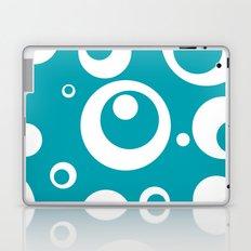 Circles Dots Bubbles :: Turquoise Laptop & iPad Skin