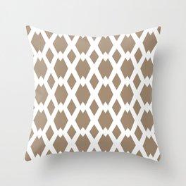 Daffy Lattice Cafe Latte Throw Pillow