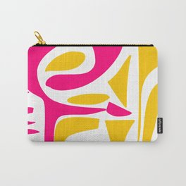 Summer Pop abstract pattern pink and yellow Carry-All Pouch
