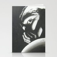 bane Stationery Cards featuring Bane by Jimmy chard
