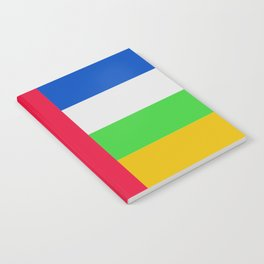 Central African Republic Flag (Patchwork Look) Notebook