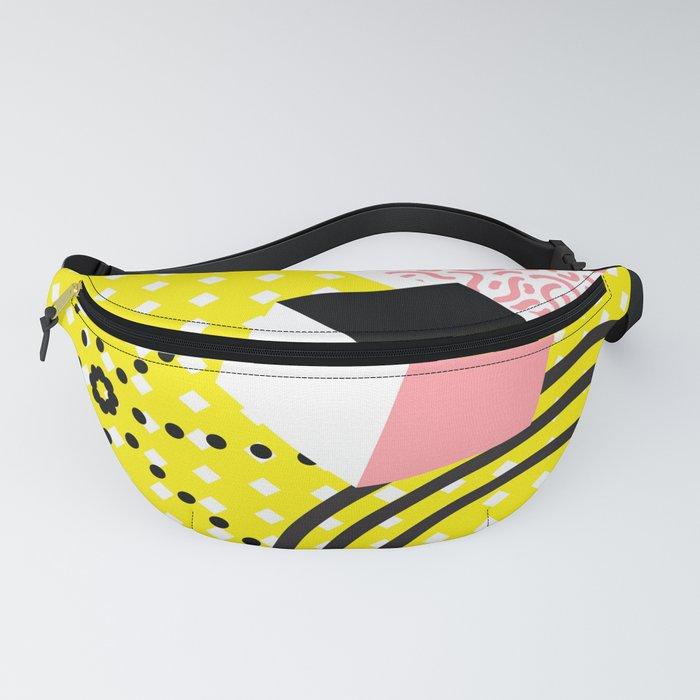 Colorful Geometrical Memphis Fanny Pack