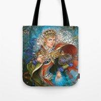 berserk Tote Bags featuring Elven sorceress by DiMary