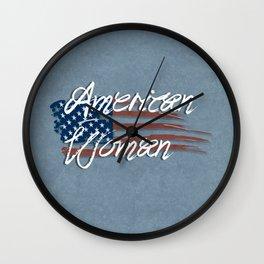 I'm An American Woman Wall Clock
