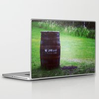 whiskey Laptop & iPad Skins featuring Whiskey Keg by gdesai