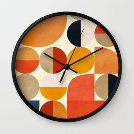 geometric abstract shapes autumn Wall Clock