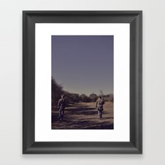 the hunters. Framed Art Print