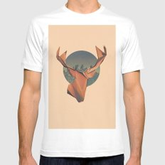 YONDER White MEDIUM Mens Fitted Tee
