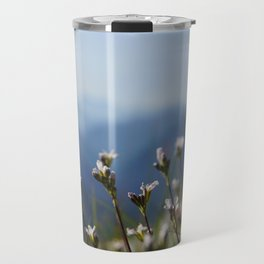 white mountain flowers Travel Mug