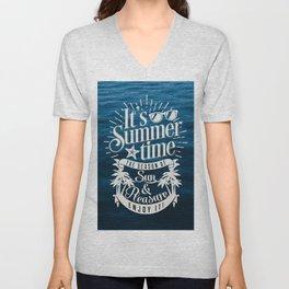It's Summer Time Unisex V-Neck
