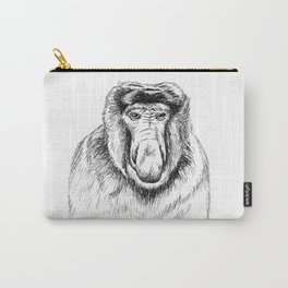 Proboscis Monkey Drawing Carry-All Pouch