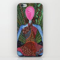 yoga iPhone & iPod Skins featuring yoga by mawilda
