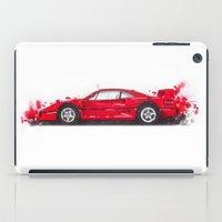 ferrari iPad Cases featuring Ferrari F40  by Claeys Jelle Automotive Artwork