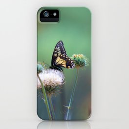 Butterfly Thistle iPhone Case