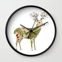 Guardian of the Forest Folk Art Wall Clock