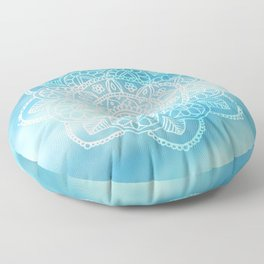 Blue Sky Mandala Floor Pillow