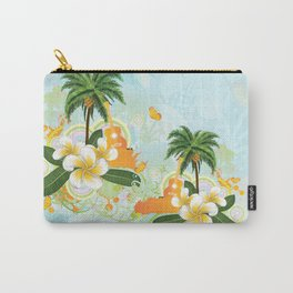 Plumeria flowers and guitar Carry-All Pouch