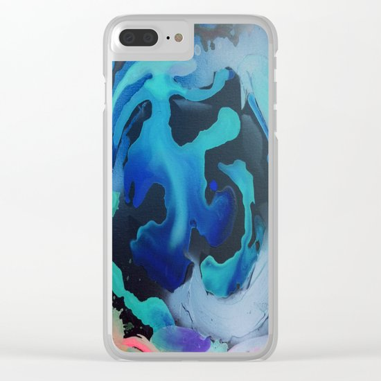 Swim with the Mermaids in the Great Natural Deep Blue Sea Clear iPhone Case