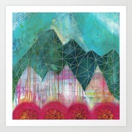 Mountain Winter Solstice Art Print